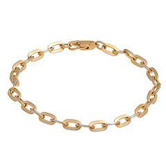 Men's LYNX Two-Tone Stainless Steel Chain Bracelet