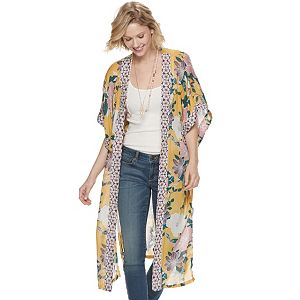 855582b600c23 Women's SONOMA Goods for Life™ Tropical Crane Print Oversized Kimono