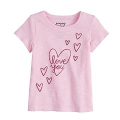 Baby Girl Jumping Beans® 'Love You' Glittery Graphic Tee