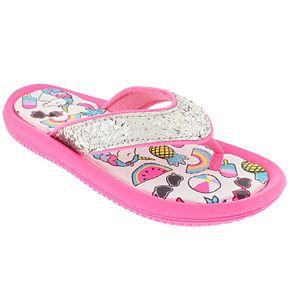 Girls 4-10 Elli by Capelli Glitter Beach Sandals