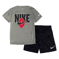 Toddler Boy Nike Football Dri-FIT Graphic Tee & Shorts Set