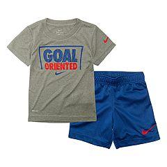 Toddler Boy Nike 'Goal Oriented' Dri-FIT Graphic Tee & Shorts Set