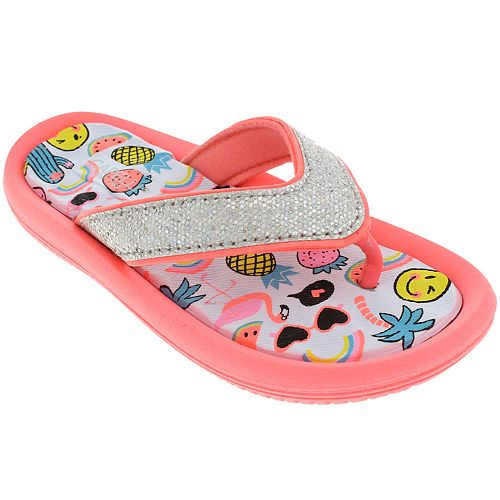 Girls 4-10 Elli by Capelli Glitter Summer Feeling Sandals
