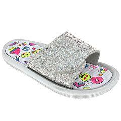 Girls 4-10 Elli by Capelli Glitter Emoji Blast Sandals