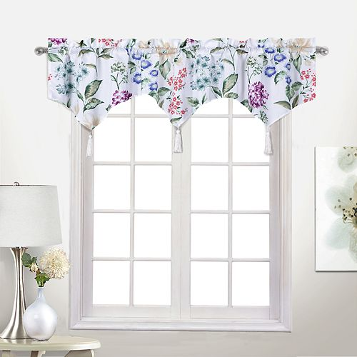 Botanical Light-Filtering Window 54 X 14 Multi Curtain Topper United Curtain Co