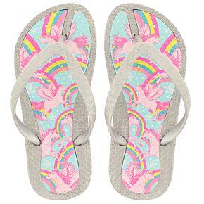 Girls 4-10 Elli by Capelli Pegacorn & Rainbows Sandals