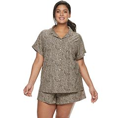 c0cccbecf Plus Size Apt. 9® Printed Sleep Shirt   Pajama Shorts Set