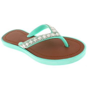 Girls 4-10 Elli by Capelli Rhinestone Jelly Sandals