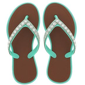 Girls 4-10 Elli by Capelli Rhinestone Jelly Sandals