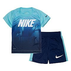 Toddler Boy Nike Abstract Dri-FIT Graphic Tee & Shorts Set