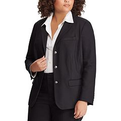 Plus Size Chaps Button Front Blazer