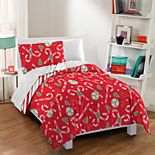 Dream Factory Candy Cane Comforter & Sham Set