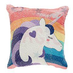Dream Factory 'Magic' Unicorn Flip Sequin Throw Pillow