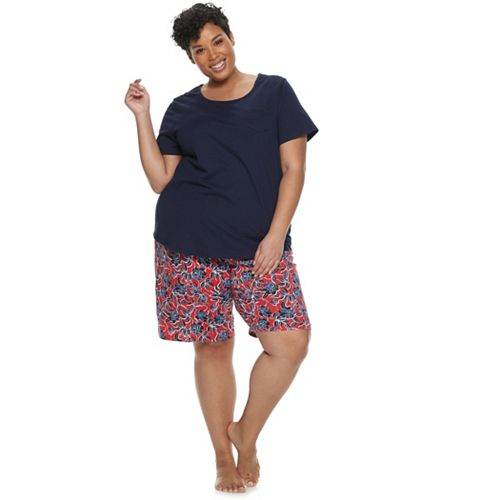 Plus Size Croft & Barrow® Tee & Bermuda Pajama Set