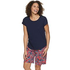 Petite Croft & Barrow® Tee & Bermuda Pajama Set