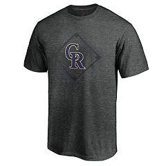 Men's Majestic Colorado Rockies Just Getting Started Graphic Tee
