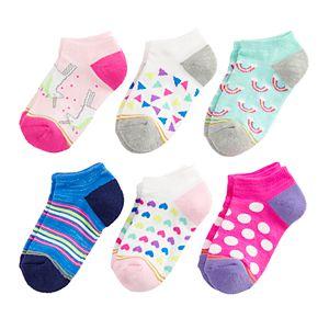 Girls 7-16 GOLD TOE 6-pack Fairytale No-Show Socks