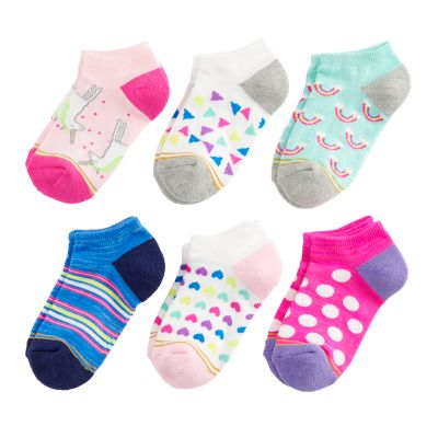 Girls 7-16 GOLD TOE 6-pack Fairytale No-Show Socks