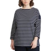 Plus Size Chaps Striped Tee