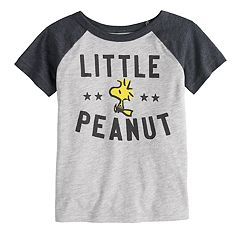 Toddler Boy Jumping Beans® Peanuts Snoopy & Woodstock 'Little Peanut' Raglan Graphic Tee