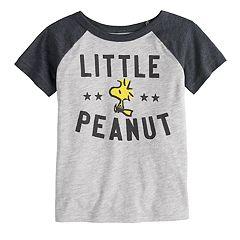 Toddler Boy Jumping Beans® Peanuts Snoopy & Woodstock 'Little Peanut' Raglan Graphic Tee