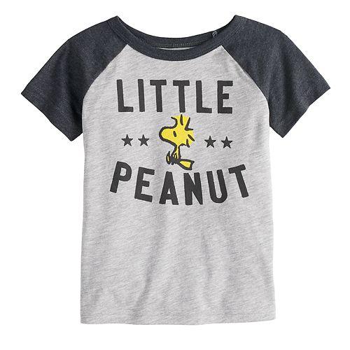"Toddler Boy Jumping Beans® Peanuts Snoopy & Woodstock ""Little Peanut"" Raglan Graphic Tee"