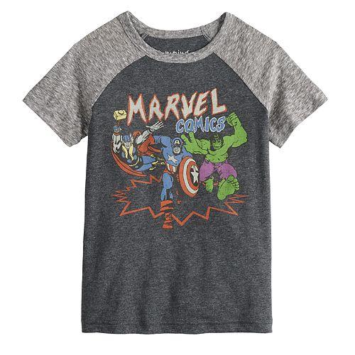 Toddler Boy Jumping Beans® Marvel Comics Raglan Graphic Tee