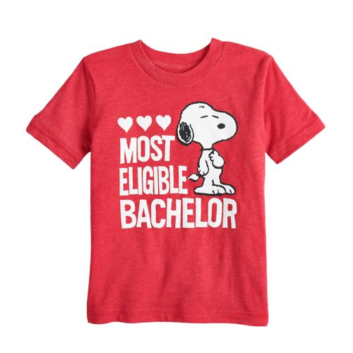 """Toddler Boy Jumping Beans® Peanuts Snoopy """"Most Eligible Bachelor"""" Graphic Tee by Toddler Boy Jumping Beans"""