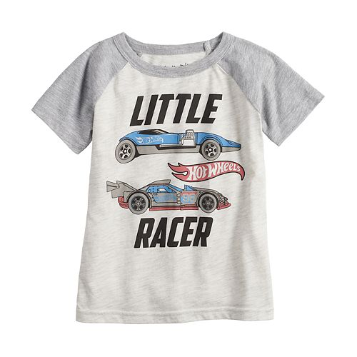 """Toddler Boy Jumping Beans® Hot Wheels """"Little Racer"""" Raglan Tee"""
