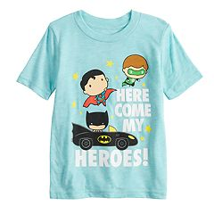 Toddler Boy Jumping Beans® 'Here Comes My Heroes' Green Lantern, Batman & Superman Graphic Tee