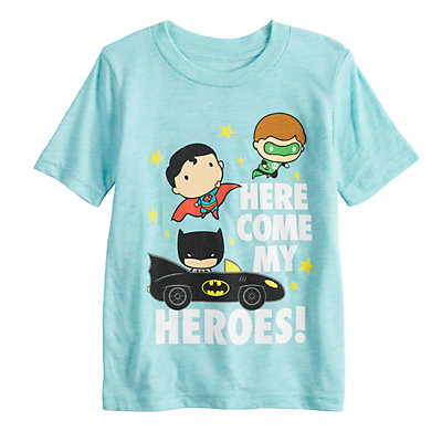 "Toddler Boy Jumping Beans® ""Here Comes My Heroes"" Green Lantern, Batman & Superman Graphic Tee"
