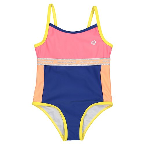 Toddler Girl Skechers Colorblock One-Piece Swimsuit