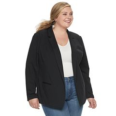 NEW! Plus Size EVRI Knit Blazer