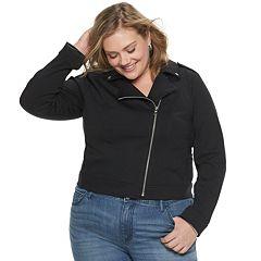 NEW! Plus Size EVRI Ponte Moto Jacket