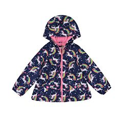 6a9eeb66 Baby Girl Carter's Midweight Hooded Unicorn Jacket. Navy Pink
