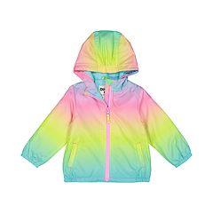 Baby Girl OshKosh B'gosh® Midweight Hooded Rainbow Jacket
