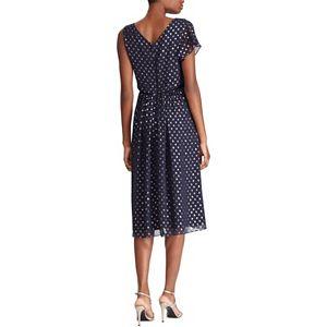 Women's Chaps Foil Dot Asymmetrical Fit & Flare Dress