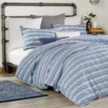 Peri Puckered Stripe Duvet Cover