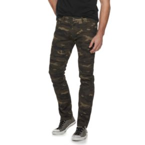 Men's XRAY Straight-Fit Classic Camo Moto Jeans