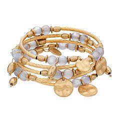 SONOMA Goods for Life™ Hammered Disk Coil Bracelet