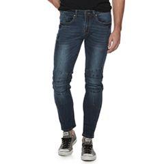 Men's XRAY Straight-Fit Updated Dark Blue Moto 5-Pocket Jeans