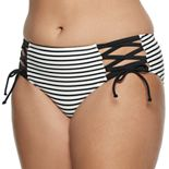 Juniors' Plus Size SO® Summertime Stripe Hipster Swim Bottoms