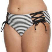 Juniors' SO® Summertime Stripe Hipster Swim Bottoms