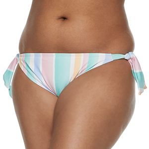 Juniors' Plus Size SO Surf Stripe Hipster Swim Bottoms