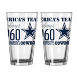 Boelter Dallas Cowboys Spirit Pint Glass Set