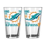 Boelter Miami Dolphins Spirit Pint Glass Set