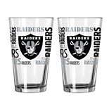 Boelter Oakland Raiders Spirit Pint Glass Set