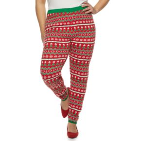 Plus Size Women's Holiday Sweater Leggings