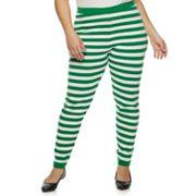 Plus Size Women's Holiday Sweater Leggings