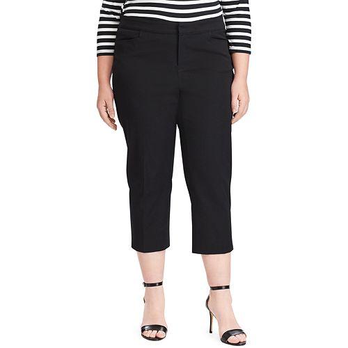 Plus Size Chaps Twill Capri Pants
